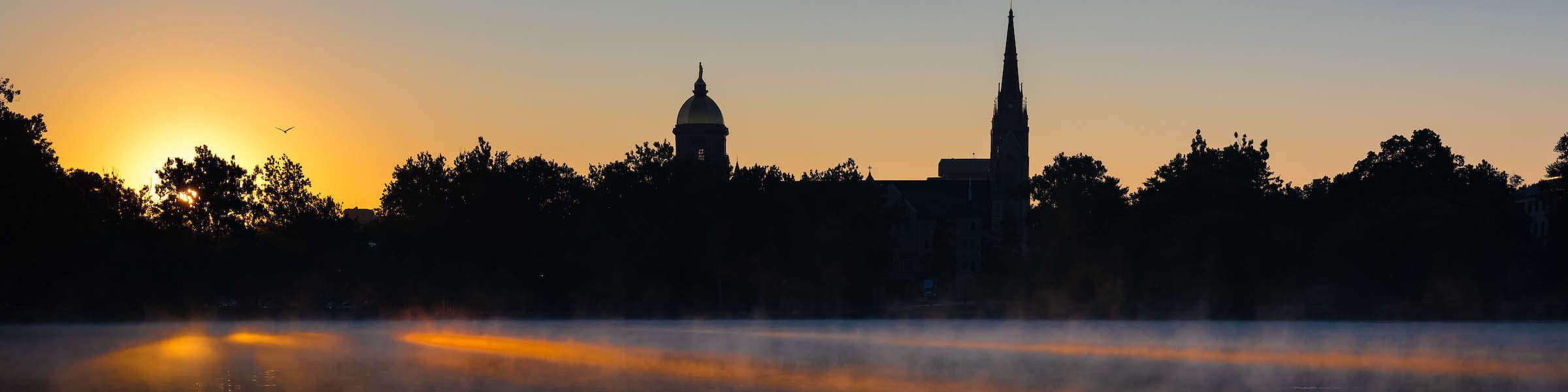 Notre Dame Lake Dawn